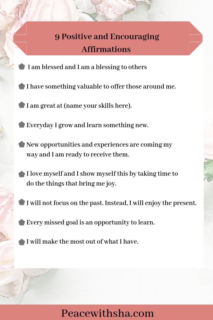 9 Positive and Encouraging Everyday Affirmations