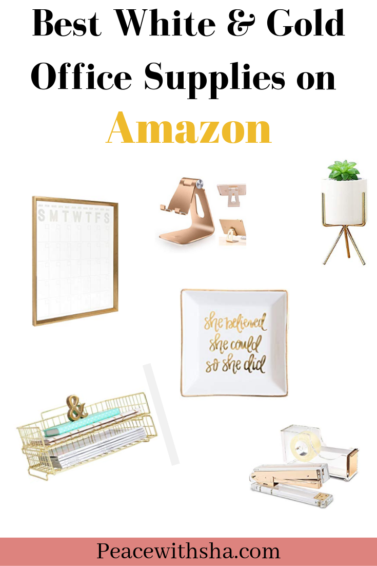 Best Gold and White Desk Office Supplies on Amazon
